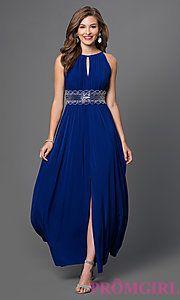 Buy Long Sleeveless Bead Embellished Dress by Morgan at PromGirl