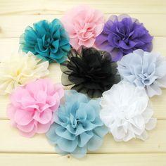 flower hair clips<3