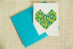 Geometric Love Card by FMCstudio.
