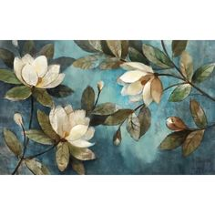 Tangletown Fine Art 'Floating Magnolias' by Albena Hristova Painting Print on Wrapped Canvas Art Floral, Floral Wall, Framed Art Prints, Canvas Prints, Canvas Artwork, Wall Murals, Wall Art, Wall Decor, Wallpaper Size