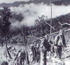 Shupii Japanese in Burma mountains soldiers in March 1943, mobilized to counter the first Chindit raid.