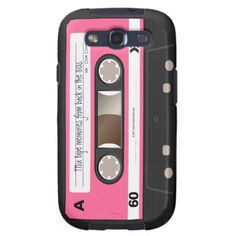 Hot Pink Retro Cassette Tape Personalized Case Samsung Galaxy S3 Covers
