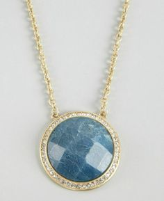 Danielle Stevens : gold plate and blue quartz necklace Quartz Necklace, Pendant Necklace, Gold Chains, Pendants, Jewels, Plate, Stuff To Buy, Fashion Design, Ebay