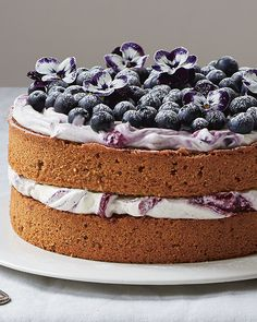 A Lemony Hazelnut & Blueberry Cake from Amber Rose's 'Love, Bake, Nourish' get the recipe HERE Sweet Recipes, Cake Recipes, Dessert Recipes, Cupcakes, Cupcake Cakes, Köstliche Desserts, Delicious Desserts, Sweet Paul, Blueberry Cake