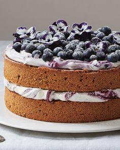 A Lemony Hazelnut & Blueberry Cake from Amber Rose's 'Love, Bake, Nourish' #SweetPaul #AmberRose