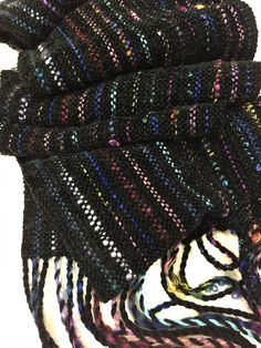 Hand Woven Mobius Cowl,  Handwoven Cowl, Infinity Scarf, Handmade Scarf, Unique Gift, Multi-colored, Statement Accessory by DianeHamillFiberArt on Etsy