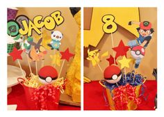Decorations at a Pokémon Party #pokemon #partydecor