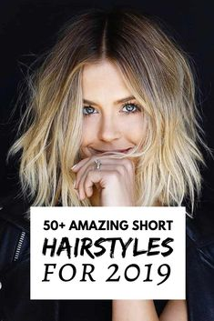 50 Amazing Short Hairstyles for 2019 Medium Hair Cuts, Short Hair Cuts, Pretty Hairstyles, Bob Hairstyles, Fixing Short Hair, Hair Today Gone Tomorrow, Dyed Blonde Hair, Feel Unique, Best Short Haircuts