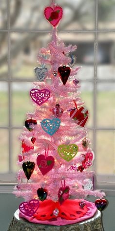 Valentine tree...what one of my Christmas trees becomes <3