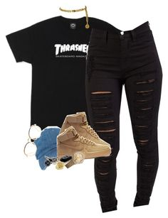 """""""A lil Gold"""" by blacklegends on Polyvore featuring NIKE, Linda Farrow, Rolex and Chanel"""