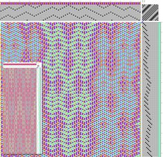 Echo Weave Draft for Scarf in Pastel Colors (generated from Preliminary Draft)