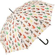 Paraguas estampado con gatos de colores
