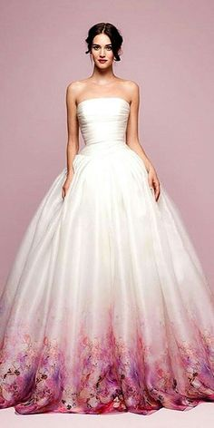 30 Ball Gown Wedding Dresses Fit For A Queen Entire Wedding Made colored wedding gowns - Wedding Gown Bridal Dresses, Prom Dresses, Formal Dresses, Ball Dresses, Dress Prom, Dress Long, Ball Gowns Prom, Sleeve Dresses, Bridesmaid Dresses