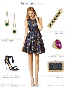 Brocade Party Dress Fall Wedding