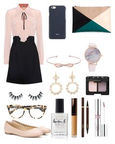"""Classy entrepreneur"" by angei-1 on Polyvore featuring Miu Miu, Chloé, Sole Society, Valextra, Ted Baker, Marie Hélène de Taillac, NARS Cosmetics, Estée Lauder, Tom Ford and Unicorn Lashes"