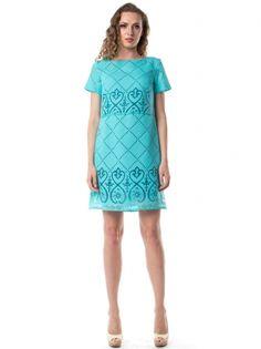 1fdd8eb5237 Бирюзовое льняное платье