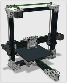 I've modded completely the awesome Tarantula printer from TEVO. 3d Printer Designs, 3d Printer Projects, Cnc Projects, Diy Cnc Router, Cnc Woodworking, 3d Printing Diy, Diy 3d, Small Cafe Design, 3d Cad Models