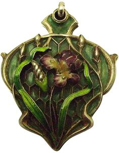 French Enamel Silver Art Nouveau Pendant. Beautiful silver and Enamel pendant from the Art Nouveau period. The pendant is beautifully decorated with (a.o. plique a jour) enamel. The pendant has a French hallmark for silver. France, 1900s