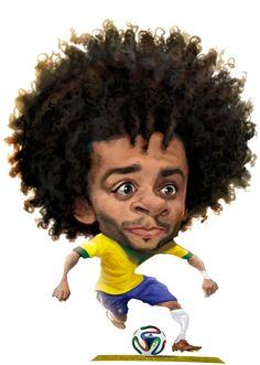 Marcelo, o grande pecado de Dunga - Esporte - UOL Esporte Cartoon People, Cartoon Faces, Funny Faces, Cartoon Art, Funny Caricatures, Celebrity Caricatures, Realistic Cartoons, African American Artwork, Soccer Photography