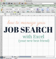 """""""Excel spreadsheets"""" and """"job hunting""""–your two least favorite phrases. While sitting down to crank out a spreadsheet doesn't make you want to jump out of bed in the morning, keeping yourself organized during the dreaded task can make your lifesomuch easier. And why spend the time to create a huge Excel spreadsheet just for your …"""