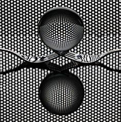 """phazephoto: """"Sphere 'n Forks Cutlery Art ©Howard Ashton-Jones 2016 """" Glass Photography, Levitation Photography, World Photography, Still Life Photography, Abstract Photography, Macro Photography, Photography Tutorials, Creative Photography, Fine Art Photography"""