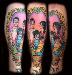 """Is your love for the Belcher family so strong that you'd love to get a tattoo of one of your favorite Bob's Burgers characters permanently inked in your skin? These are some o the best tattoos of Tina, Louise, Gene, Bob, and Linda. Before you launch into your best Tina impersonation (""""Uhhhhhhh..."""