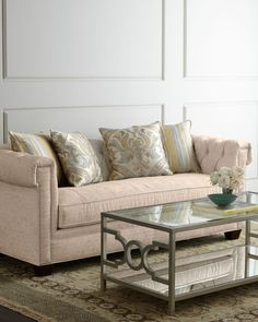 Candice Olson Gloria Sofa-Home and Garden Design Ideas Fine Furniture, Sofa Furniture, Contemporary Furniture, Living Room Furniture, Living Rooms, Furniture Ideas, Sofa Design, Interior Design, Linen Sofa