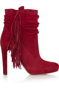 Jean Michel Cazabat Pampa fringed suede boots | THE OUTNET