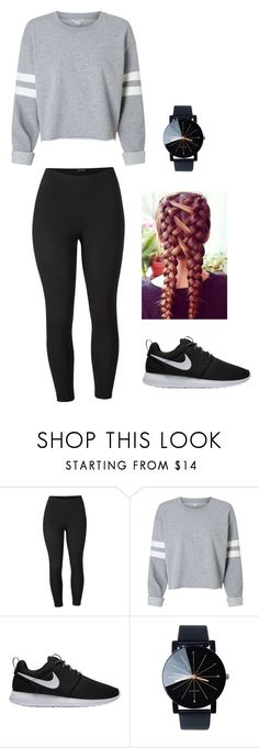 """sporty casual"" by abitomas on Polyvore featuring Venus, NIKE and plus size clothing"