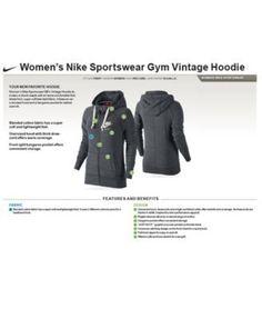 Nike Gym Vintage Full-Zip Hoodie - Orange XL