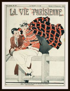 "Beautiful art print Vintage French Magazine Paris Image ""La Vie Parisienne"" Wall Decor Unframed Print is Unframed 8.5 x 11"" Ready for framing . Professionally printed on medium weight cardstock"