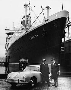 early days of importing, Ferry Porsche & Ferdinand Alexander in New York