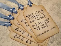 Wedding Wish Tree Tags  Happily Ever After quote  by anistadesigns, $6.50