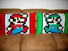 Mario and Luigi pillowcases