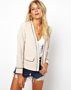 ASOS Soft Blazer With Contrast Piping on shopstyle.com