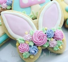 Bunny ears cookie made from butterfly cutter!