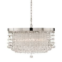 Shop for Uttermost Fascination 3 Light Crystal Chandelier, and other Lamps and Lighting at Tin Roof in Spokane, WA. The classic appeal of crystal is updated for today's sophisticated tastes. Chrome plated rim adorned by various styles of crystal accents. Hanging Chandelier, 3 Light Chandelier, Hanging Lights, Lamp Light, Crystal Chandeliers, Chandelier Shades, Crystal Light Fixture, Light Fixtures, Pendant Lights