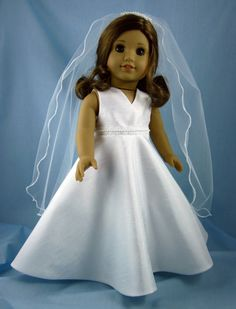 First Communion or Wedding Dress fits 18 Inch by SewMyGoodnessShop, $50.00