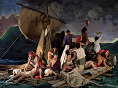 Adad Hanna's rendering of the Medusa Raft as a tableau vivant. Museum Of Contemporary Art, Modern Art, Post Modern, Medusa, Tableaux Vivants, Art Jokes, Investing In Stocks, Jeff Koons, Classic Paintings