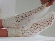 The most beautiful openwork socks).