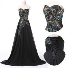 Tailor-Made 'Peacock' Dress £169.99 Available in any size! And colour! @ www.tailorwedding.com