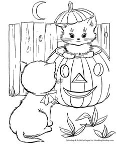 Cute Printable Halloween Coloring Pages The Elegant Pertaining To