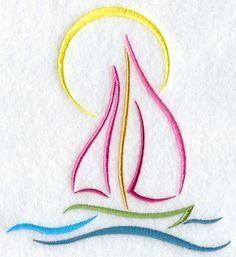 Tropical Sailboat