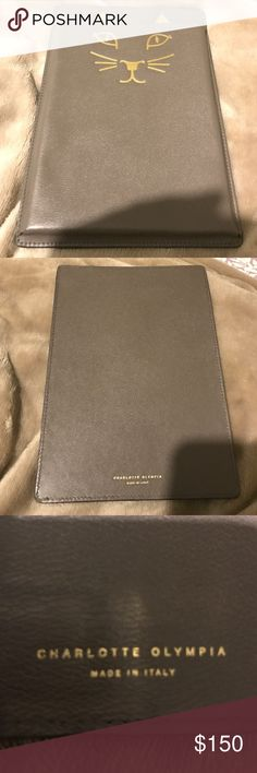 Authentic Charlotte Olympia Mini Ipad Case Grey In excellent condition, only used twice! Comes with Charlotte Olympia box. Charlotte Olympia Accessories Tablet Cases