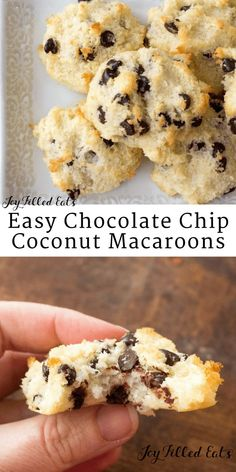 Easy Coconut Macaroons - Dairy Free Low Carb Keto THM S Gluten Free Grain Free Sugar Free - These can be your new go-to easy baked good. Six ingredients. Five minutes to mix and scoop. Thirty minutes to bake. Done.