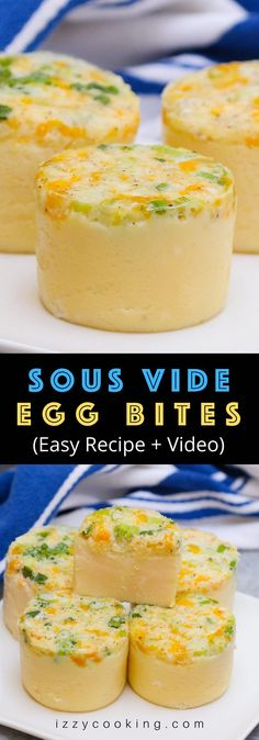 Sous Vide Egg Bites are healthy, nutritious, and flavorful with a velvety texture – perfectly cooked EVERY TIME! Whether you need something quick to grab and go, or you're on a low carb or Keto diet, these DIY Starbucks sous vide egg bites are delicious breakfast ideas great for Meal Prep! You'll get the inspiration with these 15 best sous vide egg bites recipes. #SousVideEggBites #EggBites #StarbucksEggBites