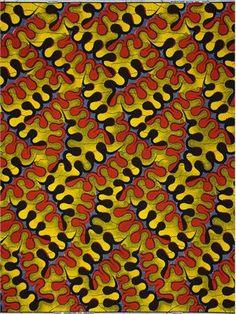 (Guaranteed) Real Dutch Wax Block Print fabric, 100% cotton. via VLISCO