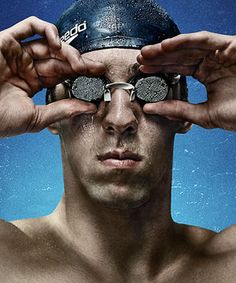 Michael Phelps by photographer Jim Fiscus for ESPN The Magazine