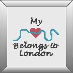 London Cross Stitch Pattern PDF Instant download by KnitSewMake