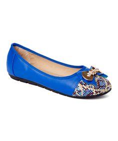 Blue Leopard Ballet Flat